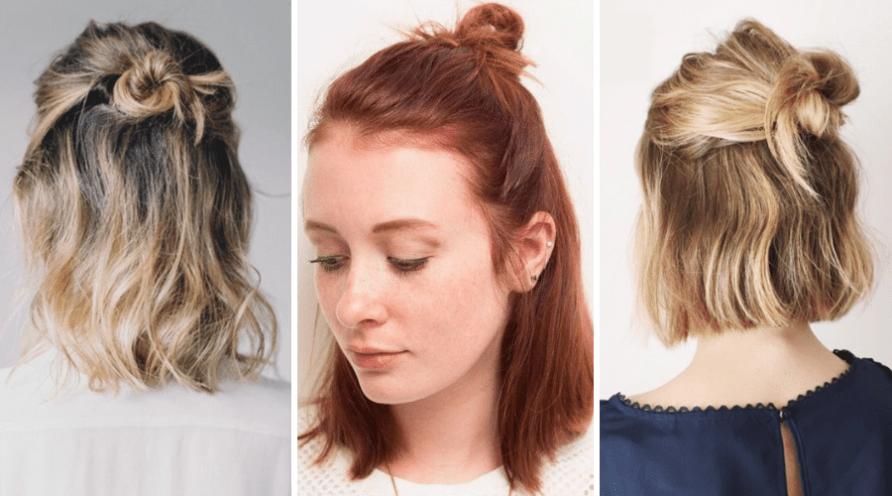 vagány alkalmi frizura rövid hajból