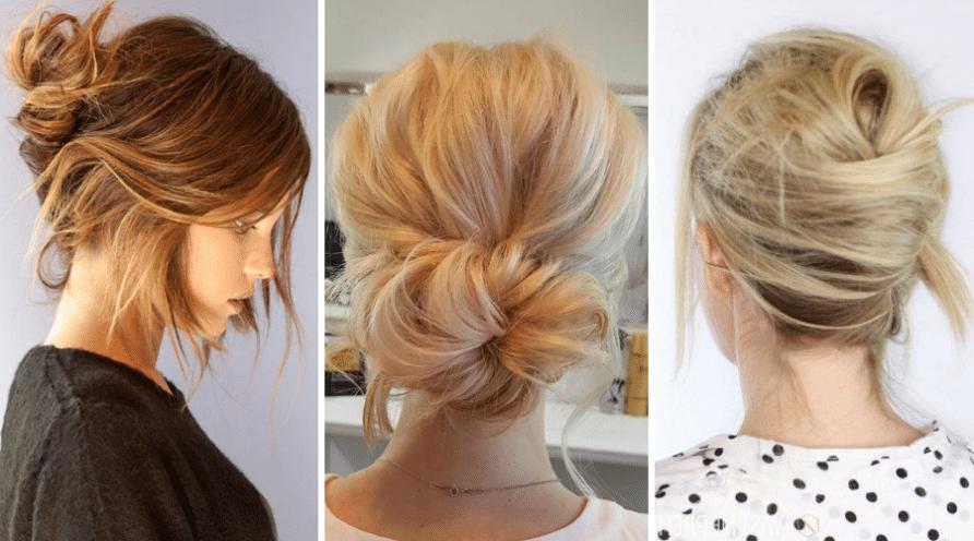 Konty alkalmi frizura rövid hajból